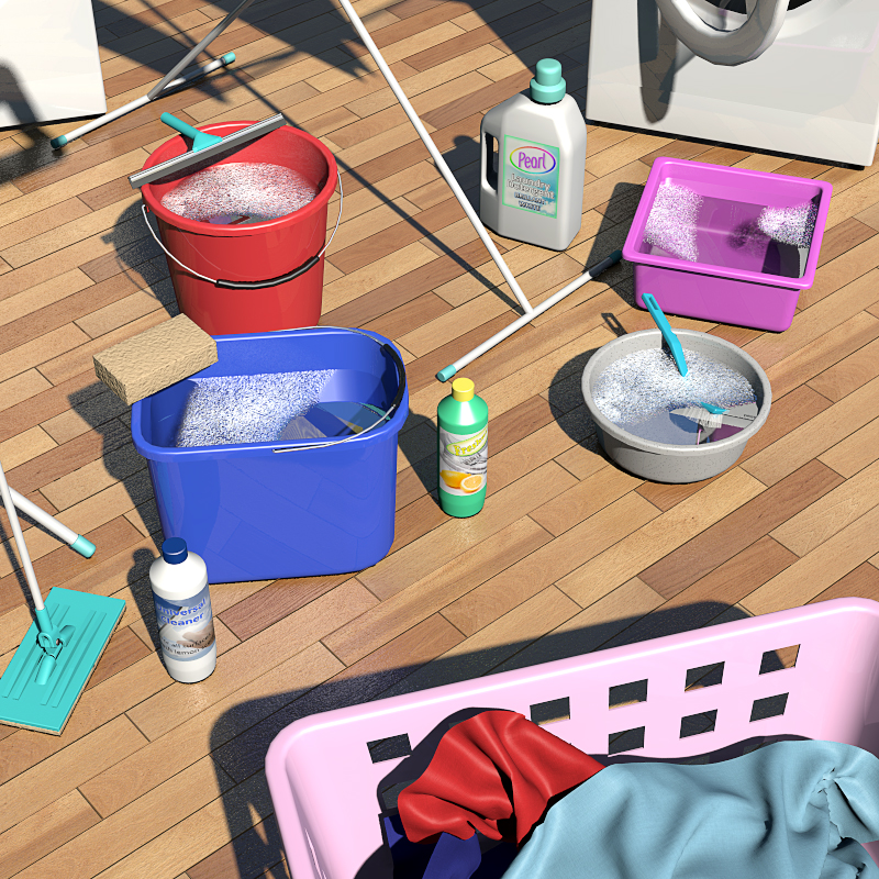 Home Items: Everyday Items, Household Items 3D Models 2nd_World