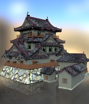 Hikone Castle - for DAZ Studio  3D Models Digimation_ModelBank