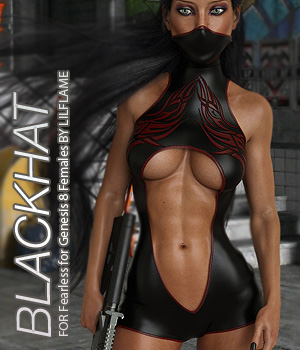 BLACKHAT - Fearless for Genesis 8 Females 3D Figure Assets Anagord
