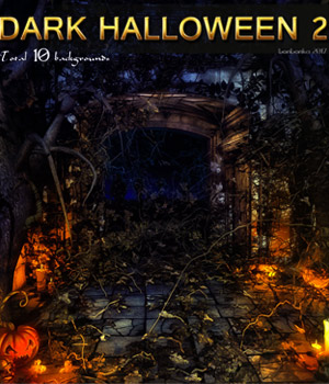 Dark Halloween 2 - 2D backgrounds 2D Graphics bonbonka