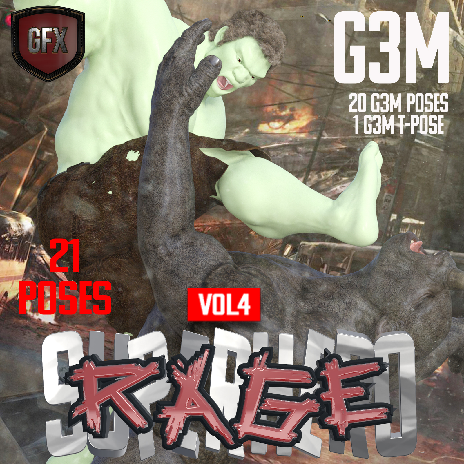 SuperHero Rage for G3M Volume 4 by GriffinFX