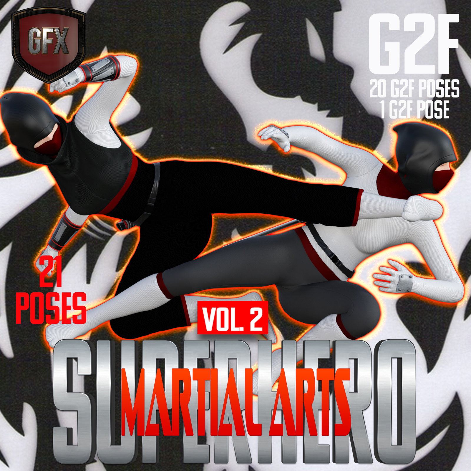 SuperHero Martial Arts for G2F Volume 2 by GriffinFX