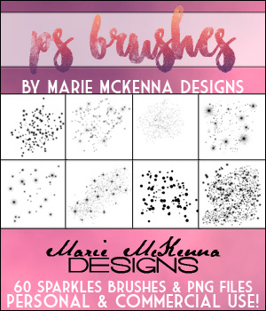 PS Brushes: Sparkles 2D Graphics Merchant Resources MarieMcKennaDesigns