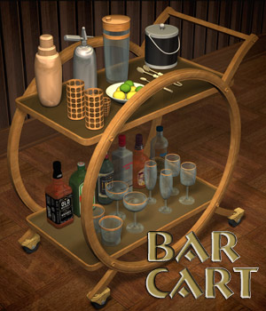 Bar Cart 3D Models Richabri