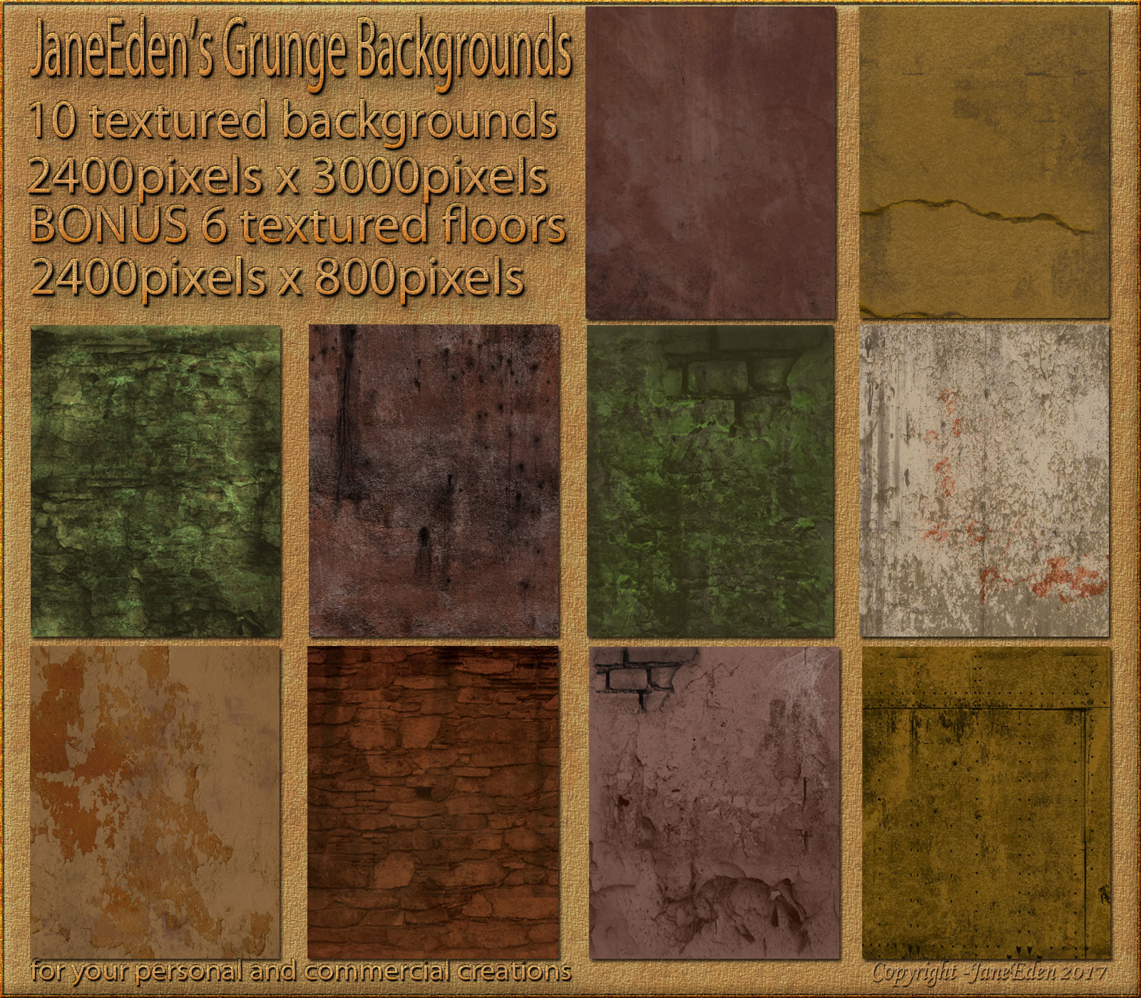 JaneEden's Grunge Backgrounds by JaneEden