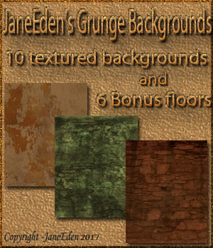 JaneEden's Grunge Backgrounds 2D Graphics JaneEden