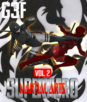 SuperHero Martial Arts for G3F Volume 2   3D Figure Assets GriffinFX