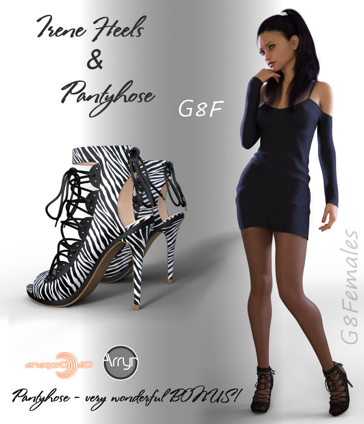 Irene Heels and Pantyhose G8F by Arryn