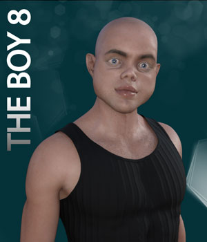 The Boy 8 3D Figure Assets biala