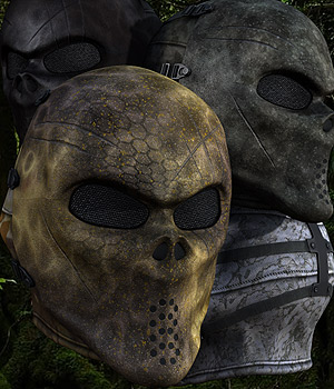 Tactical Mask 3D Figure Assets 3D Models coflek-gnorg