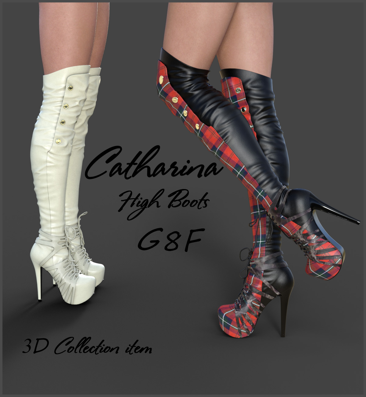 Catharina High Boots for Genesis 8 Females by Onnel