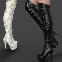 Catharina High Boots for Genesis 8 Females image 2