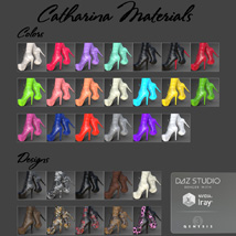 Catharina High Boots for Genesis 8 Females image 5