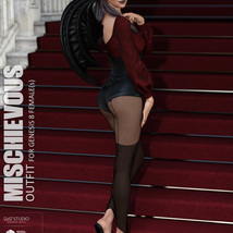Mischievous Outfit for Genesis 8 Females image 3