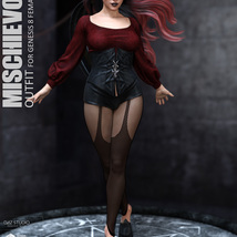 Mischievous Outfit for Genesis 8 Females image 5