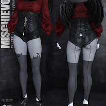 Mischievous Outfit for Genesis 8 Females image 6