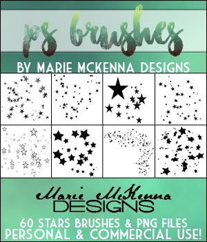 PS Brushes: Stars 2D Graphics Merchant Resources MarieMcKennaDesigns