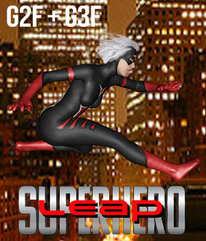 SuperHero Leap for G2F and G3F Volume 1 3D Figure Assets GriffinFX