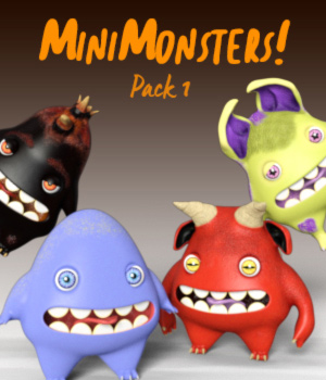 MiniMonsters - Pack 1 3D Models zakiel29