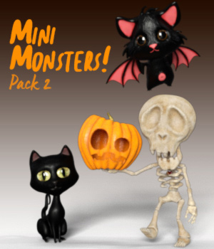 MiniMonsters - Pack 2 3D Models zakiel29
