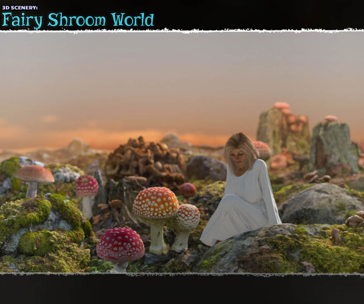 3D Scenery: Fairy Shroom World - Extended License by ShaaraMuse3D