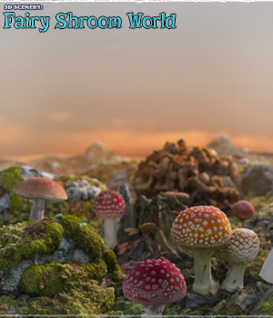 3D Scenery: Fairy Shroom World - Extended License 3D Models Extended Licenses ShaaraMuse3D