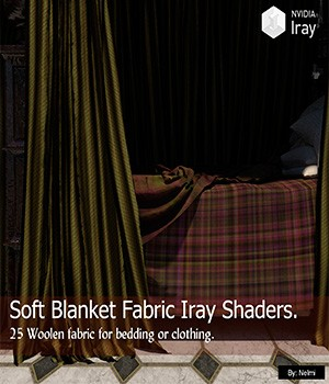 Soft Blanket Fabric - 25 Iray Shaders for Daz Studio  3D Figure Assets nelmi