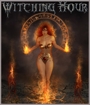 Witching Hour - Backgrounds and poses - G3F-G8F-V8 2D Graphics 3D Figure Assets ilona
