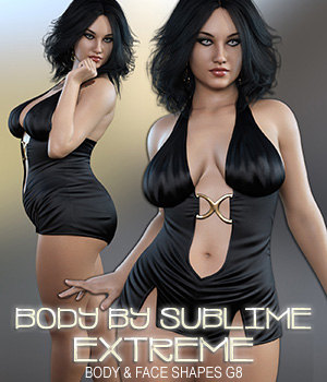 Body By Sublime ExTreme Genesis 8 Female 3D Figure Assets 3DSublimeProductions