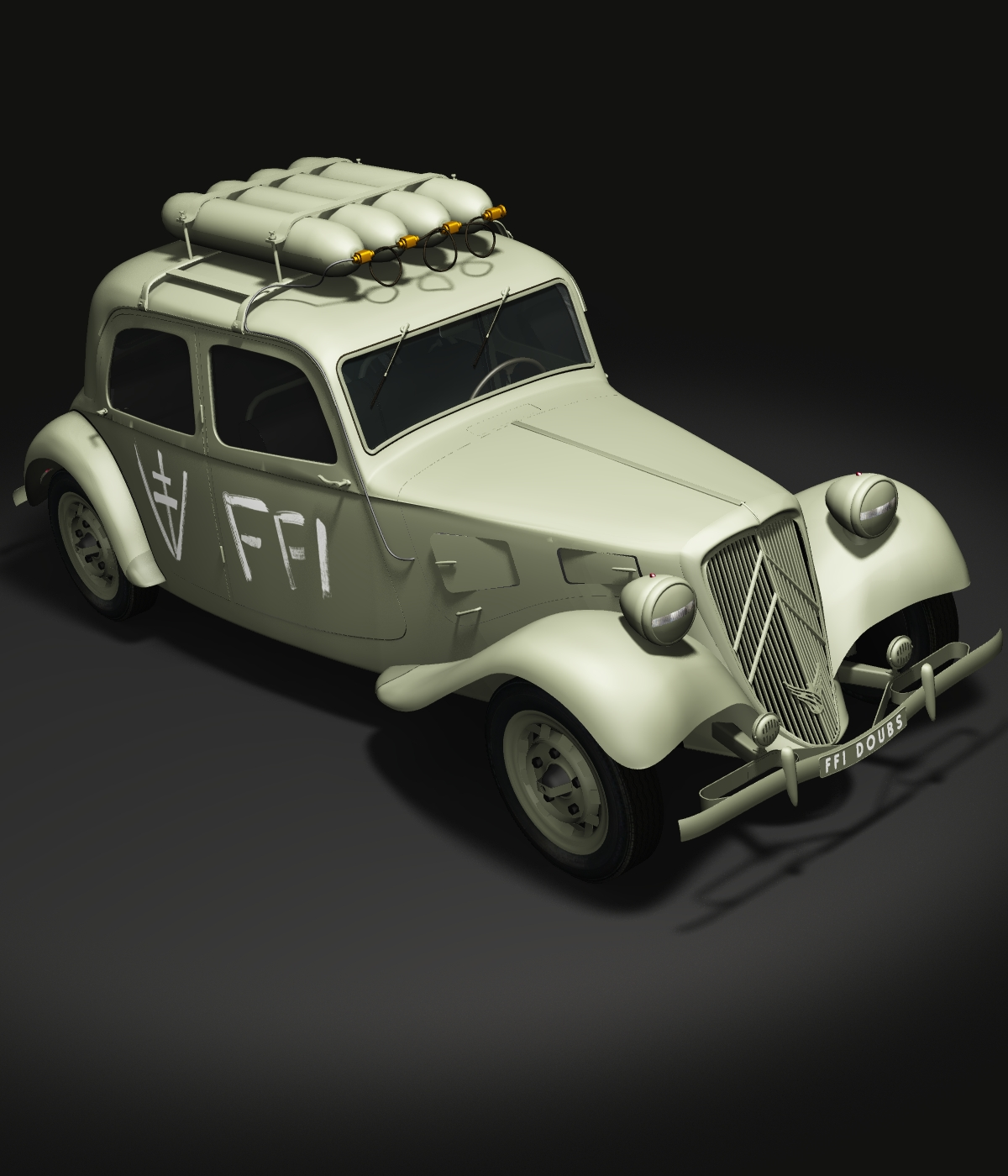 CITROEN TRACTION FFI - Extended License   by 3DClassics