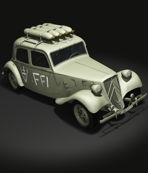 CITROEN TRACTION FFI - Extended License   3D Game Models : OBJ : FBX 3D Models Extended Licenses 3DClassics