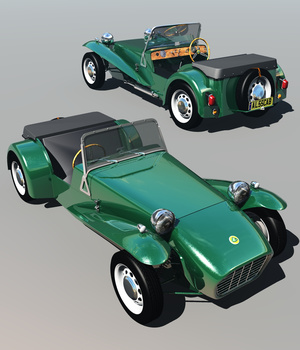 LOTUS SEVEN SERIE 2 - Extended License 3D Game Models : OBJ : FBX 3D Models Extended Licenses 3DClassics