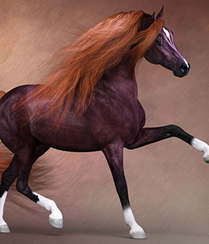 CWRW Liver Chestnut for the HiveWire Horse 3D Models cwrw