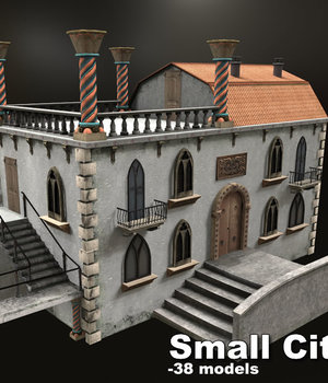 Small City 2 - Extended License 3D Game Models : OBJ : FBX 3D Models Extended Licenses dexsoft-games