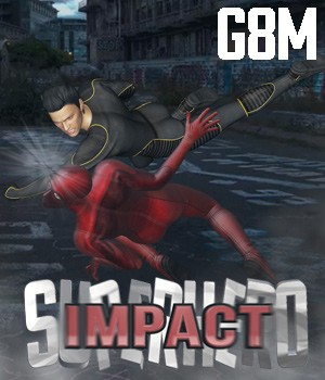 SuperHero Impact for G8M Volume 1 3D Figure Assets GriffinFX