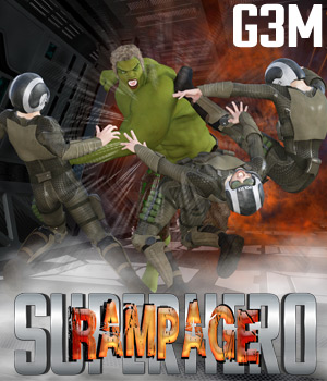 SuperHero Rampage for G3M Volume 1 3D Figure Assets GriffinFX