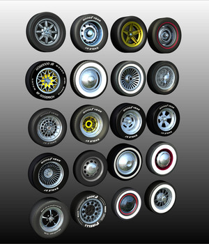 WHEELS BUNDLE 3D Models 3DClassics