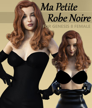 Ma Petite Robe Noire for G8F 3D Figure Assets powerage