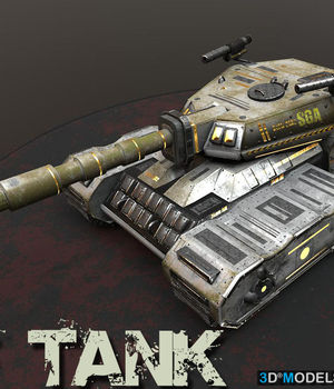 SF Tank - Extended License 3D Game Models : OBJ : FBX 3D Models Extended Licenses dexsoft-games