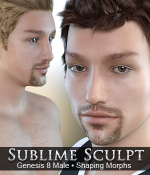 Sublime Sculpt - Genesis 8 Male 3D Figure Assets Merchant Resources 3DSublimeProductions