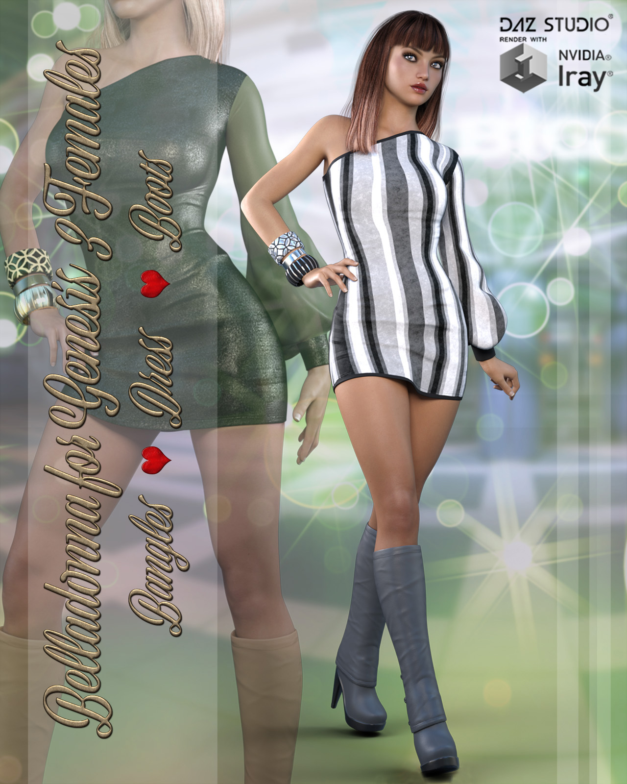 Belladonna Outfit for Genesis 3 Females by ArtTailor