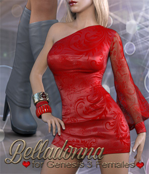 Belladonna Outfit for Genesis 3 Females 3D Figure Assets catatonia72