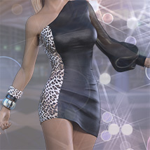 Belladonna Outfit for Genesis 3 Females image 4
