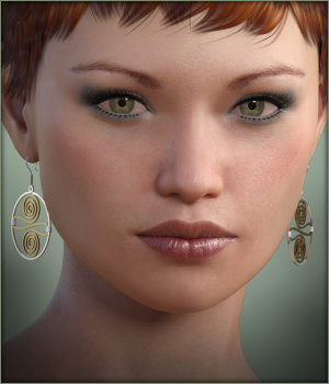 Celtic Earrings G3F & G8F 3D Figure Assets -Wolfie-