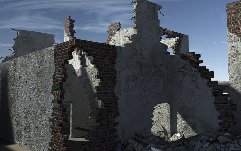 Ruined Buildings - Extended License