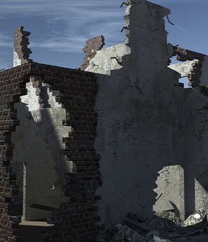 Ruined Buildings - Extended License 3D Game Models : OBJ : FBX 3D Models Extended Licenses dexsoft-games