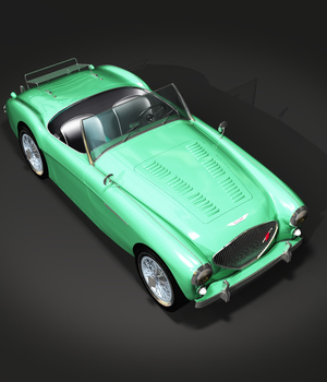 AUSTIN HEALEY 100 - for VUE  3D Models 3DClassics
