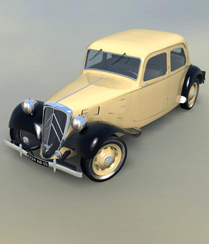 CITROEN TRACTION 1938   for VUE   3D Models 3DClassics