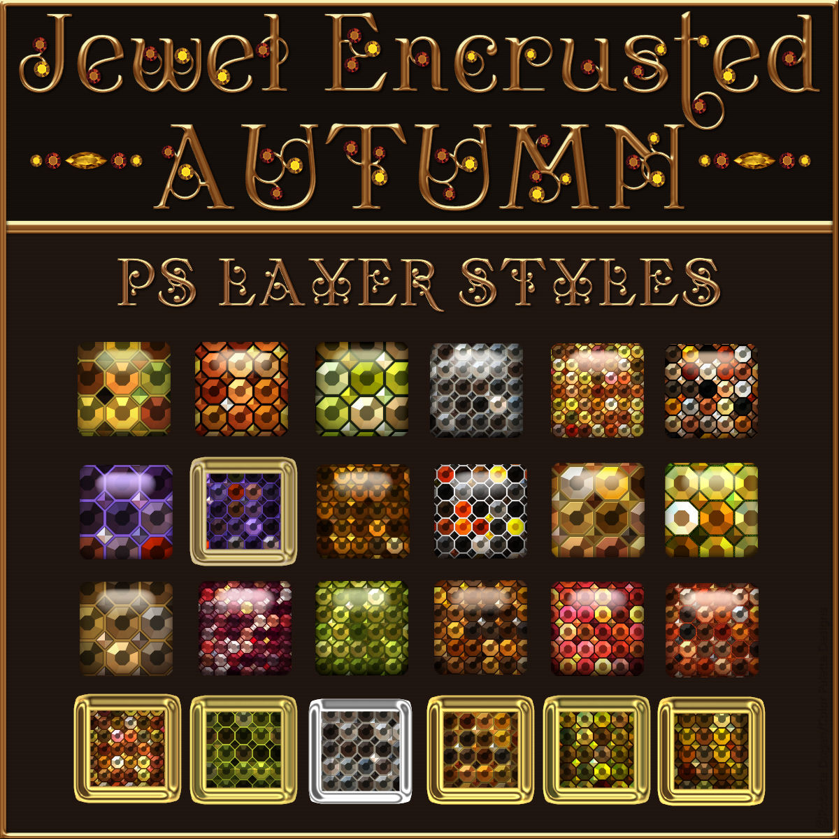 Jewel Encrusted Autumn PS Layer Styles