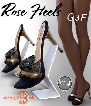 Rose Heels and Pantyhose G3F 3D Figure Assets Onnel